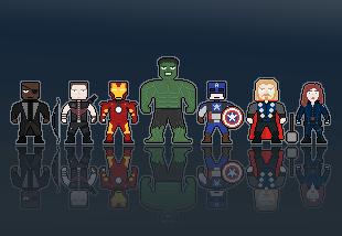 Pixel Avengers by cmdSoniq