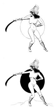 Valkyre or Mars warrior female