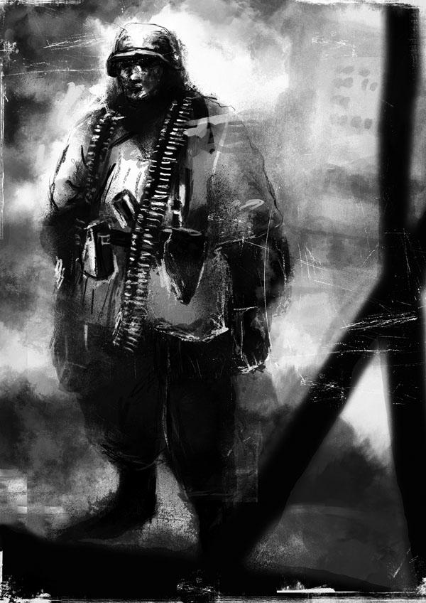 German Soldier in Stalingrad by PanzerCobra