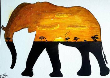 Elephantine sunset by Eif-ka