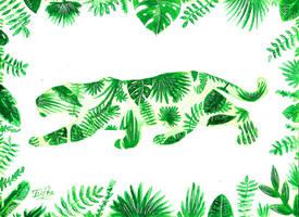 Tropical Jaguar by Eif-ka