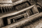 Abyss in the stairwell by Dystopia-Maxima