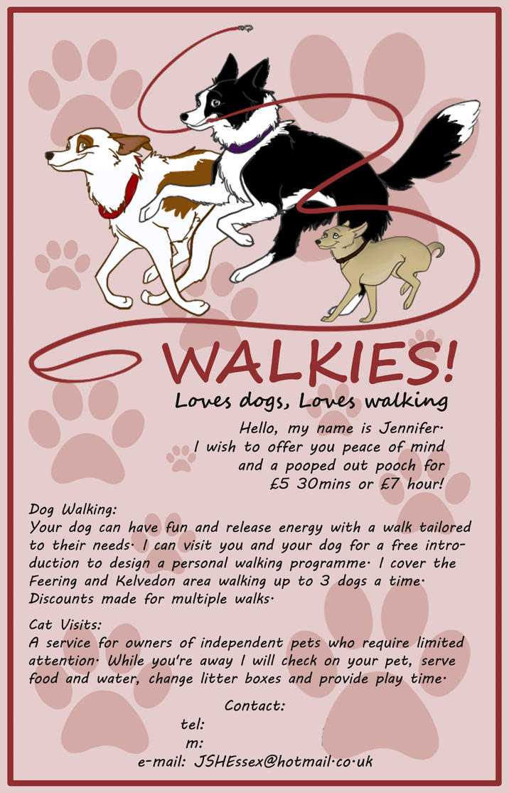 dog walking flyer template free - dog walking flyer by kitten bomb on deviantart