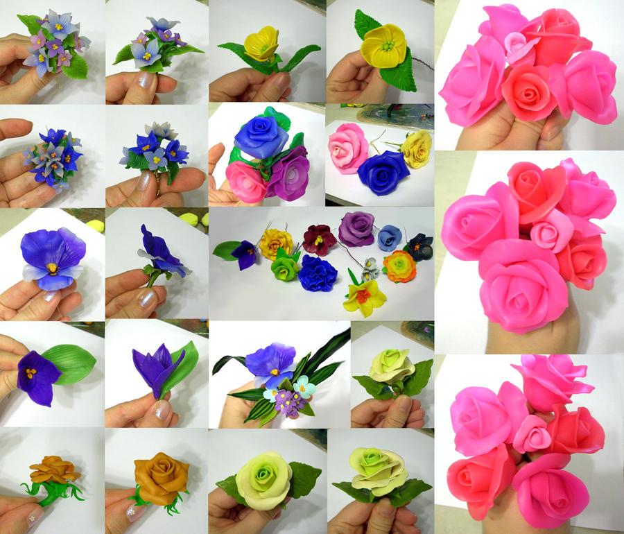 Цветы полимерная глина своими рукам 506