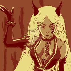 Efreeti, Mistress of Blades