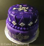 Pretty purple skull cake