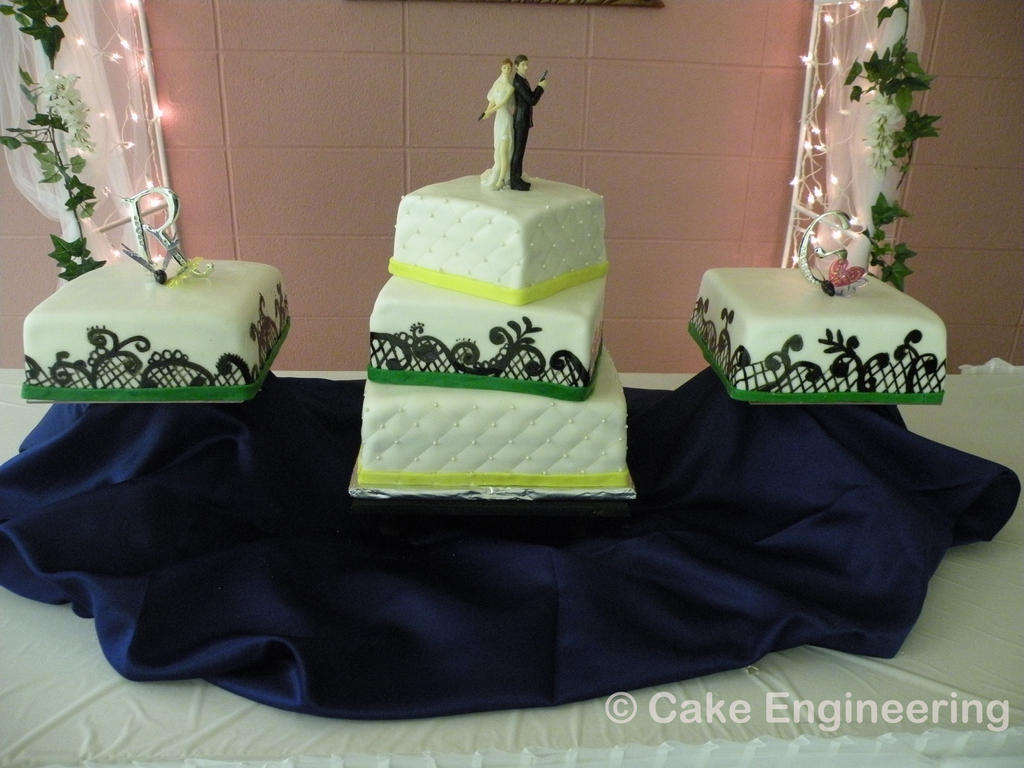 black lace wedding cake by cake engineering on deviantART