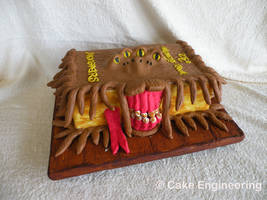 Monster book of Monsters cake by cake-engineering