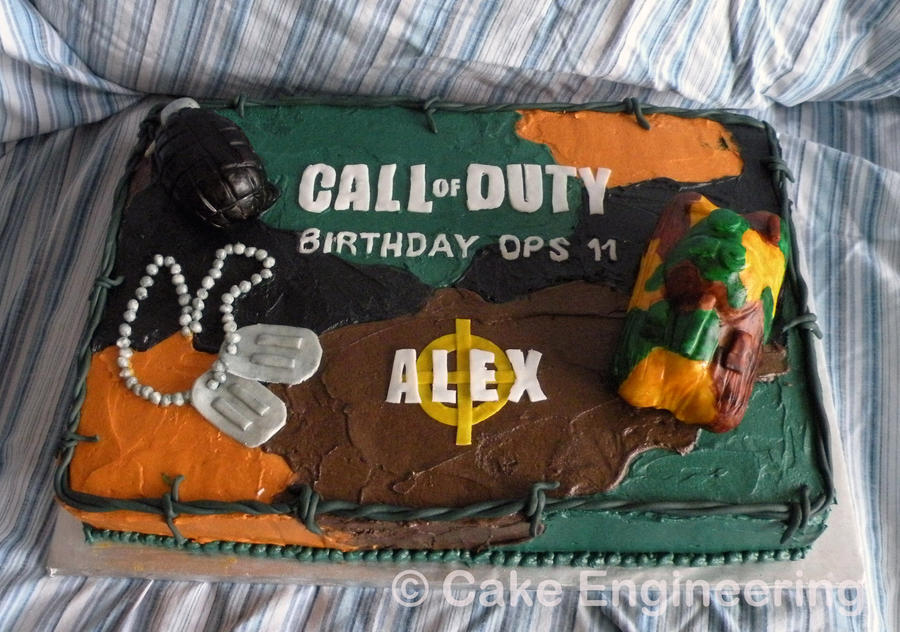 Call Of Duty Cake By Cake Engineering On Deviantart