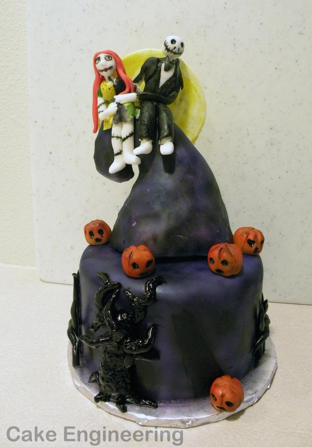 Nightmare Before Christmas cake by cake-engineering