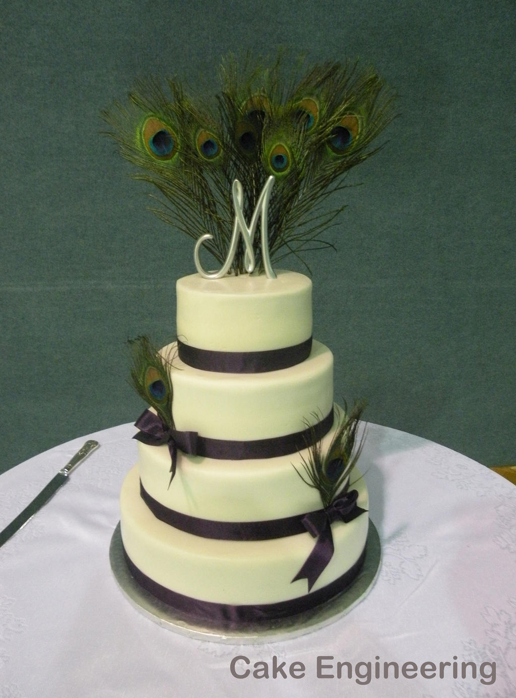 Peacock Wedding Cake by cake-engineering