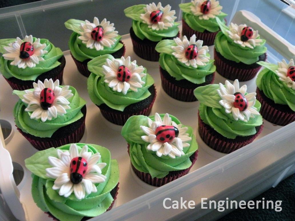Ladybug Cupcakes By Cake Engineering On Deviantart