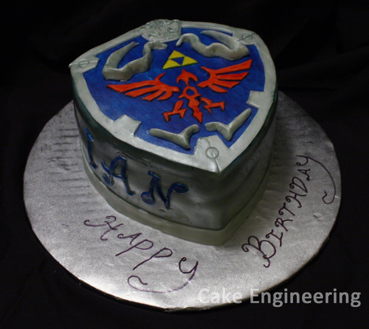 How to make hylian shield cake