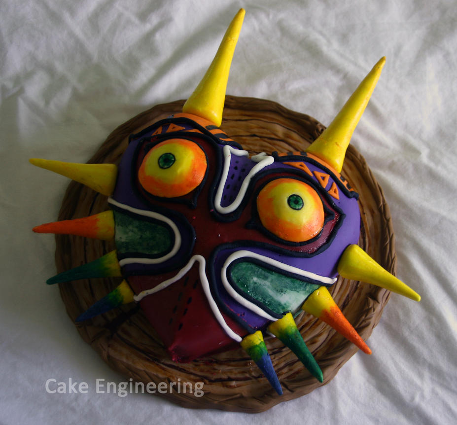 Majora's Mask Cake by cake-engineering
