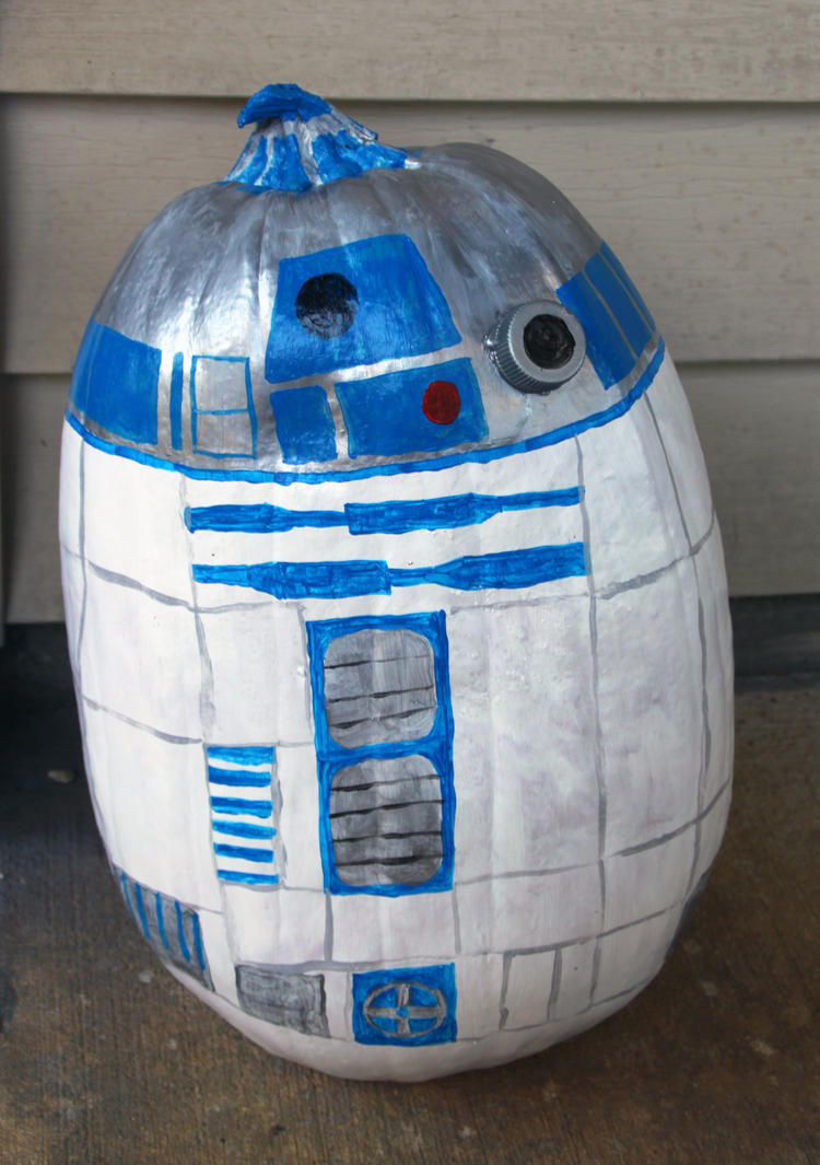 R2-D2 Pumpkin by cake-engineering