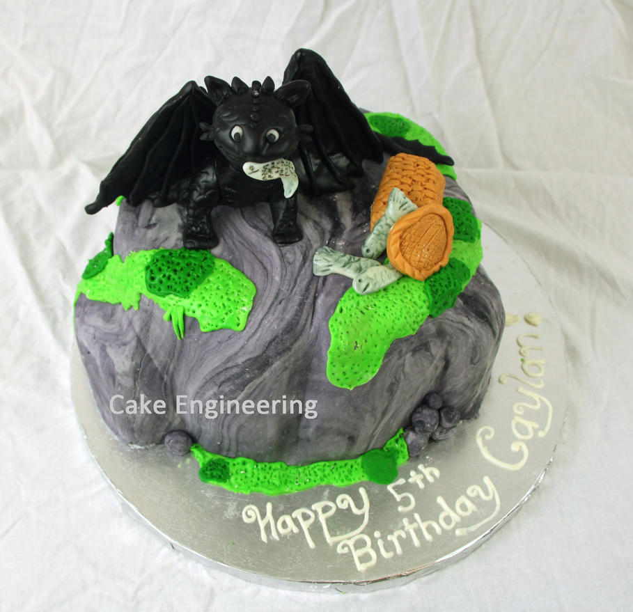 Toothless Cake by cake-engineering