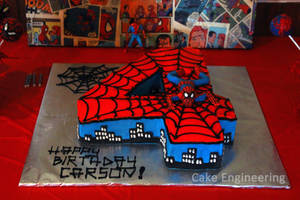 Spiderman Number Cake by cake-engineering