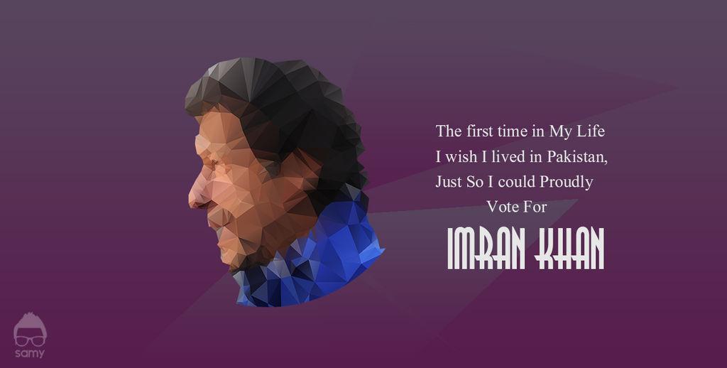 Imran Khan Low Polygon Potrait