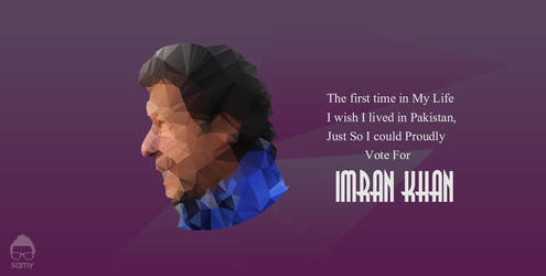 Imran Khan Low Polygon Potrait