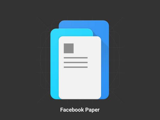 Facebook Paper - Redesign - Material Design Icon
