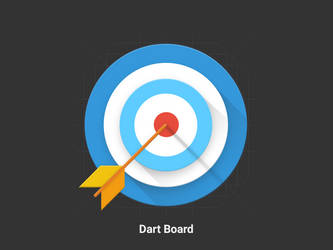 Dart Board - Material Design Icon