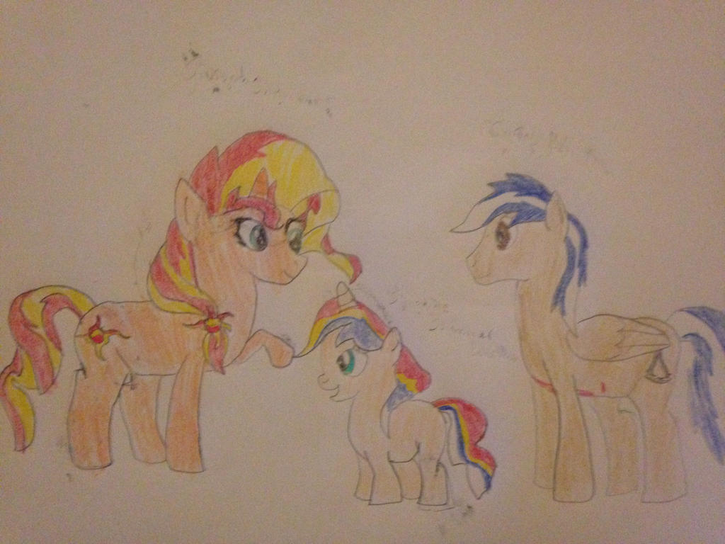 Sunset Shimmer x Oc Carlos daughter Sunshine by carlosisaboss24