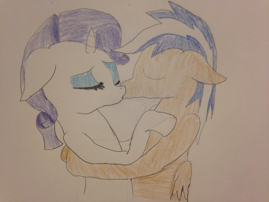 Rarity x Carlos (me) kissing by carlosisaboss24