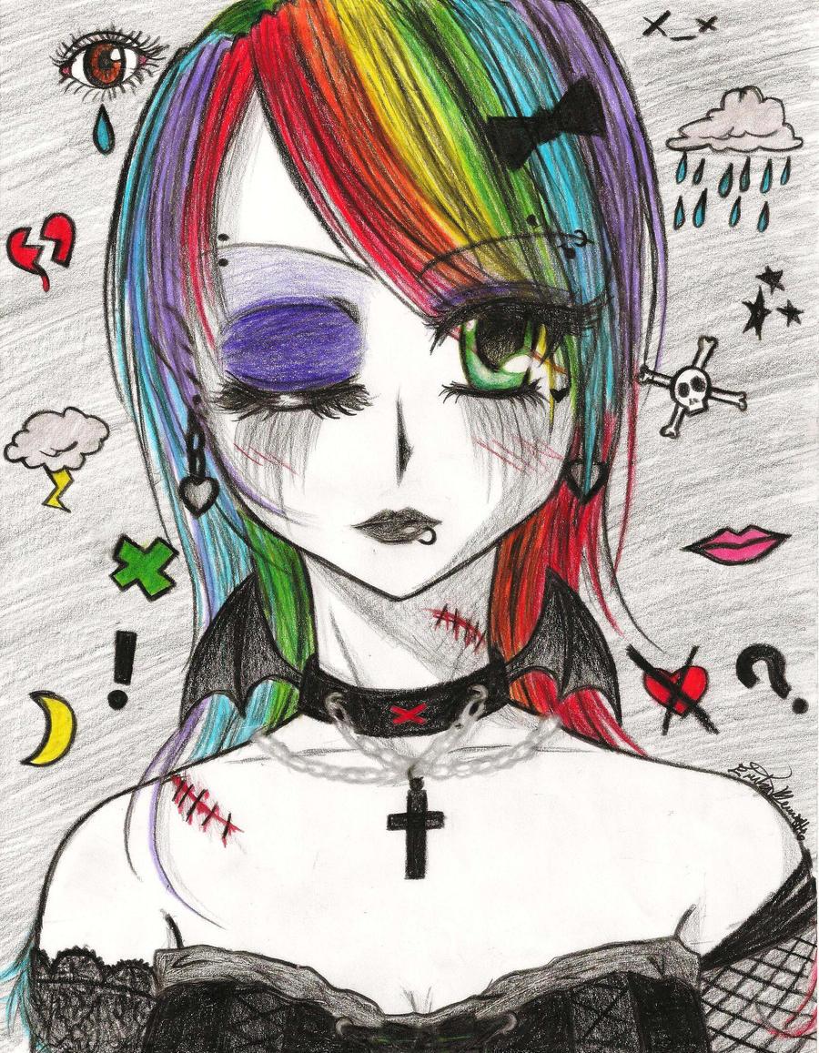 Pastel Goth Girl (1) by LaraDome on DeviantArt