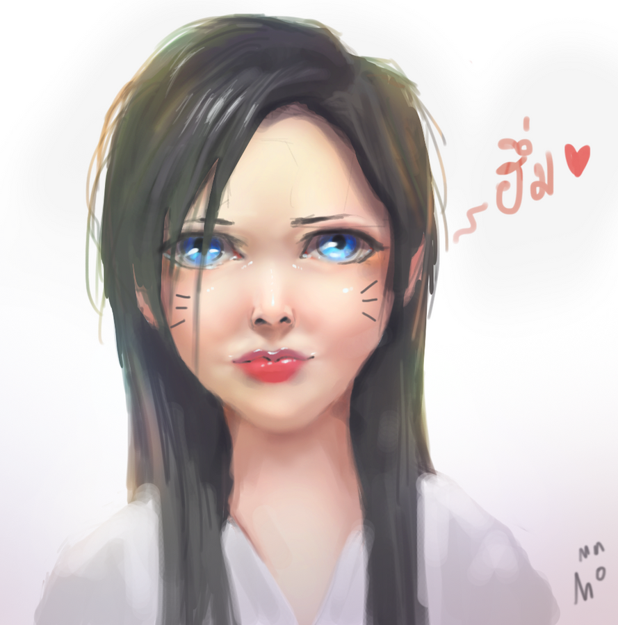 Trying to draw cute face. by rickgrade3