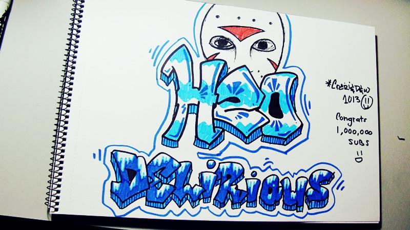 H20 Delirious Graffiti by  H20 Delirious Logo