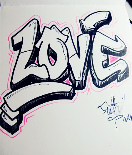 LOVE's Graffiti by LilWolfieDewey