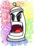 SPRAYCANMONSTER X DOODLE X RAINBOW by LilWolfieDewey