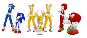MMD PD Vocaloids in Sonic costumes
