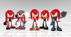 Knuckles costumes from Sonic rivals 2
