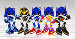 Metal sonic costumes from Sonic rivals 2