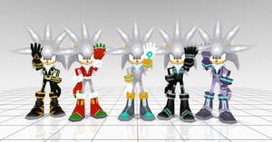 Silver costumes from Sonic rivals 2