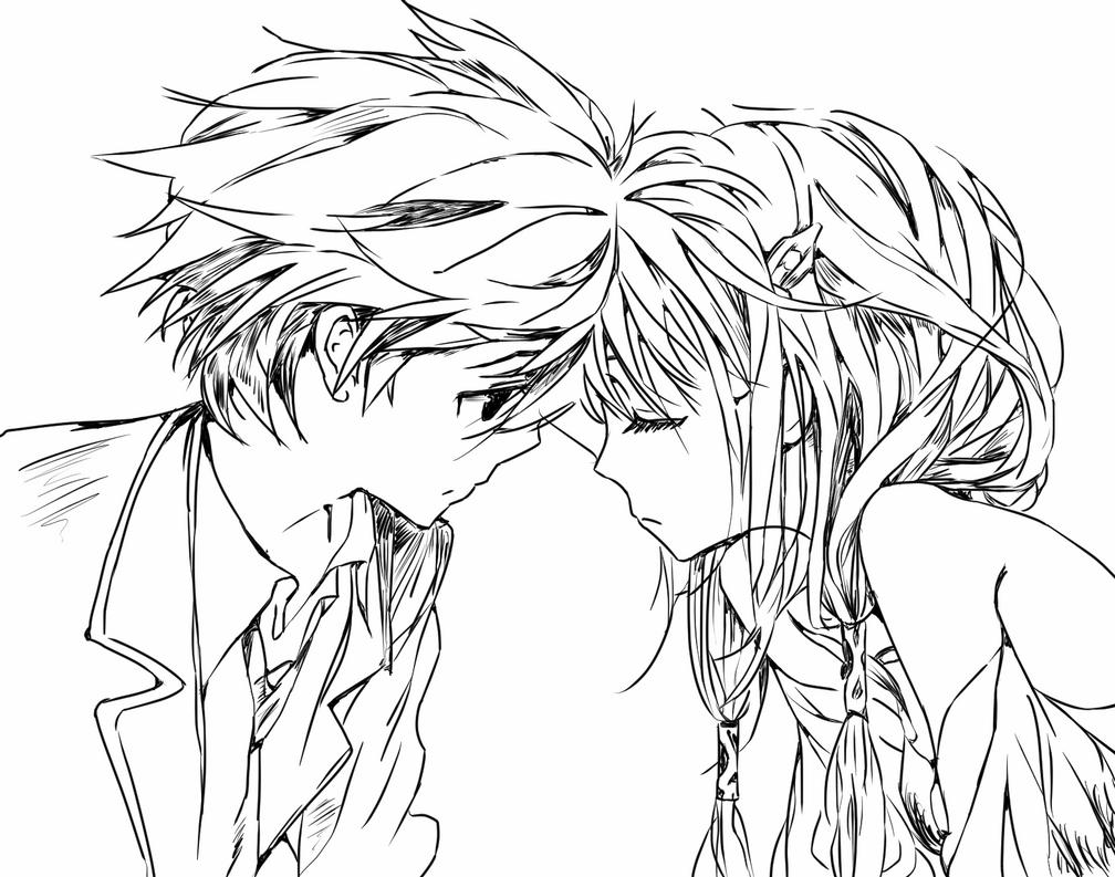 Cute anime couple drawing on tumblr by xenon978 on deviantart cute anime couple drawing on tumblr by xenon978 altavistaventures Choice Image
