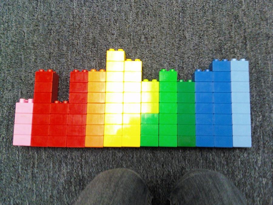 Rainbow legos by TuffBuff