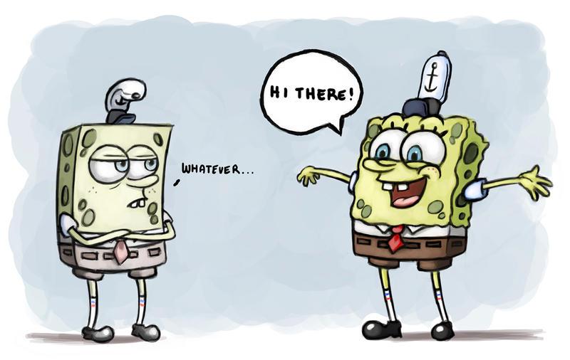 Old Spongebob Vs New Spongebob By Rabidragdoll On Deviantart