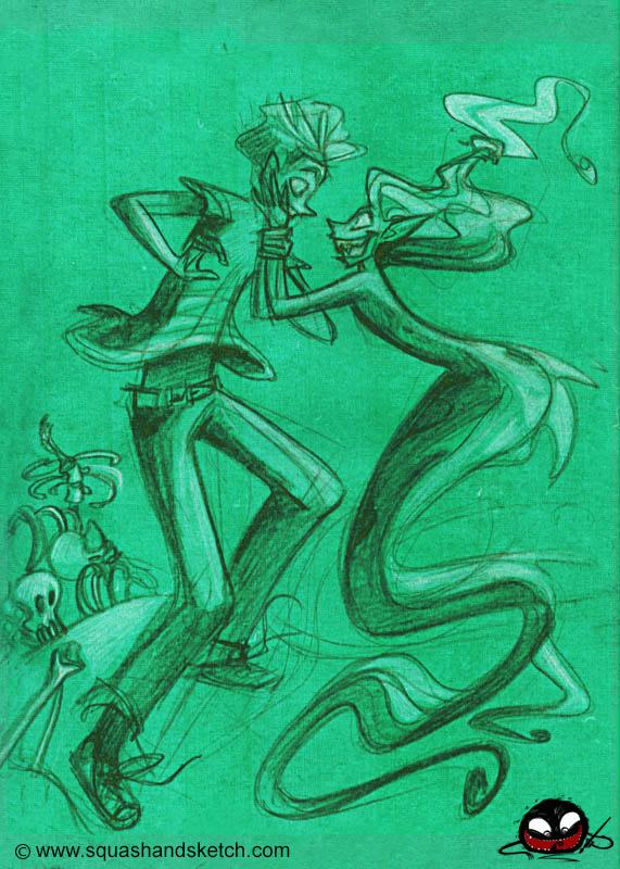 Green Mermaid by SquashAndSketch