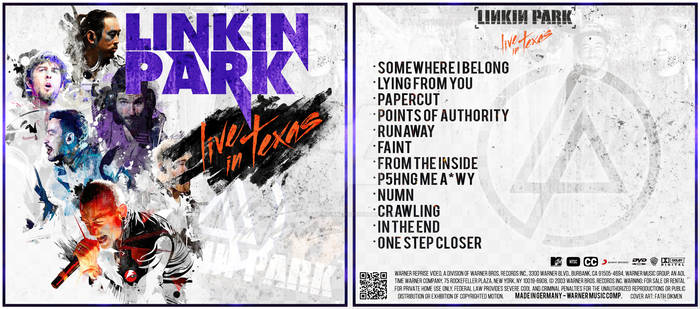 Linkin Park - Live in Texas (Album Cover  PSD) by