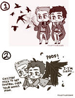 Destiel Doodles by Tehshi
