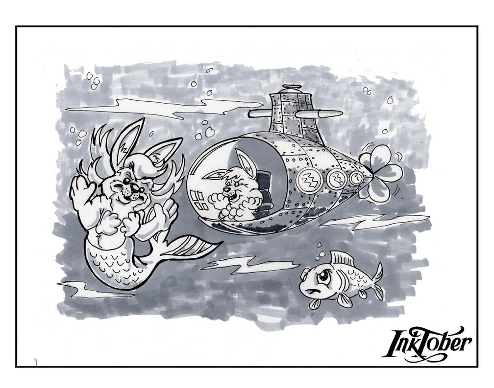 """Résultat de recherche d'images pour """"inktober 2017 day 4 underwater"""""""