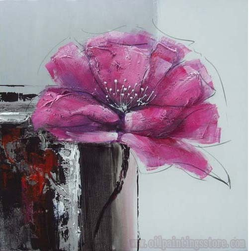oil painting pink flower - photo #33