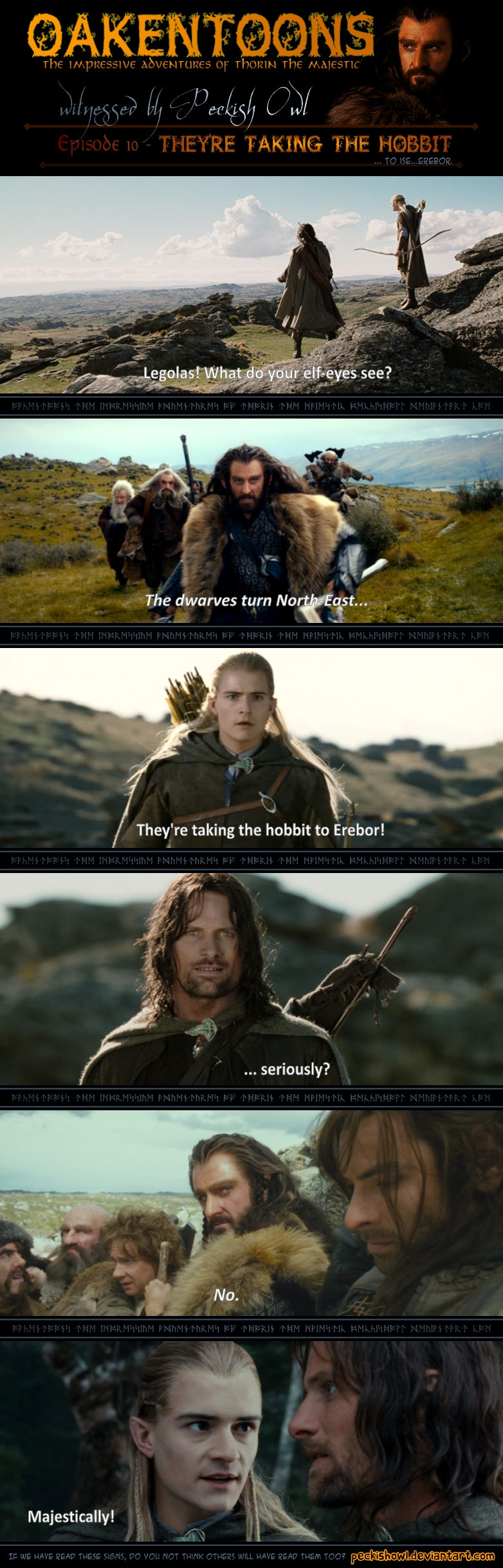 Oakentoon #10: They're taking the hobbit by PeckishOwl