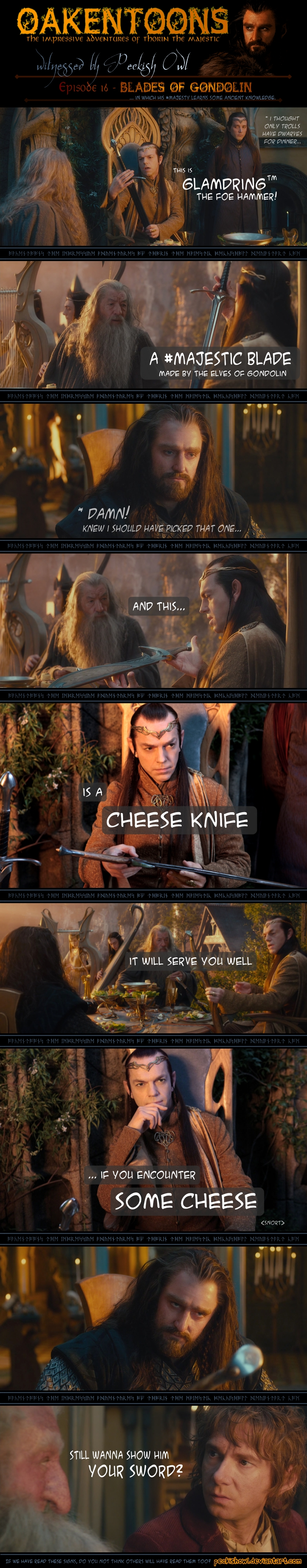 Oakentoon #16: Blades of Gondolin by PeckishOwl