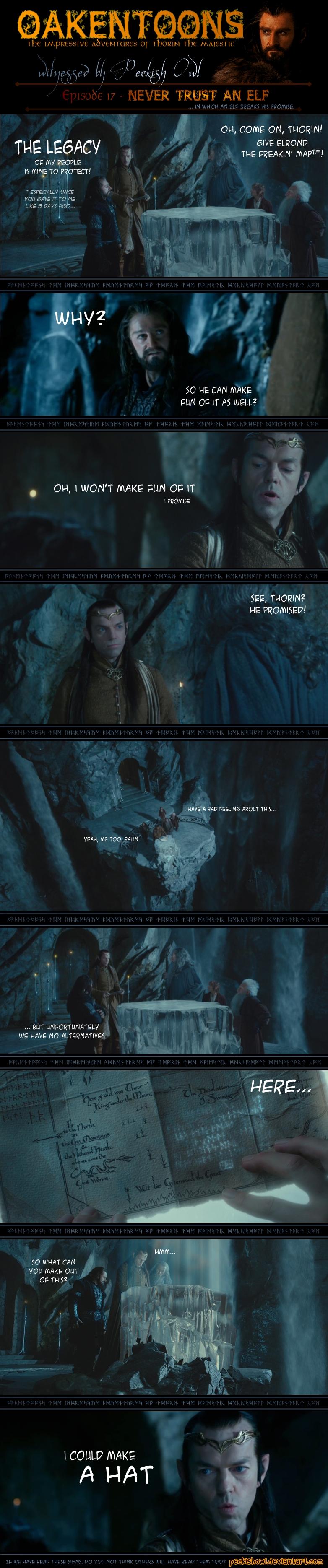 Oakentoon #17: Never trust an elf by PeckishOwl
