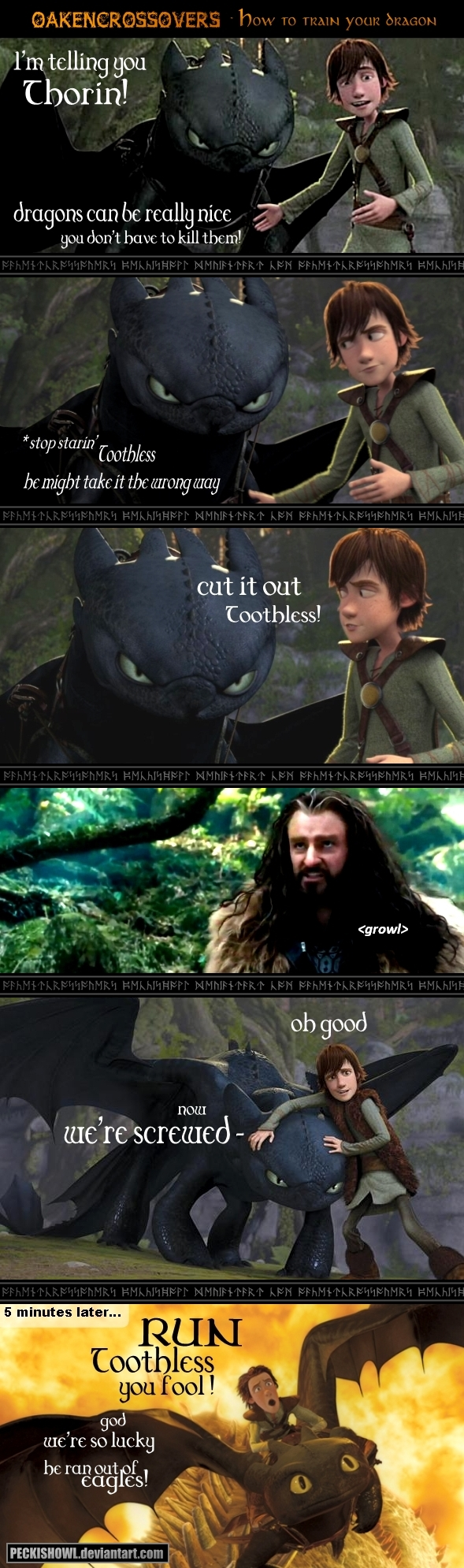 Oakencrossover #1: How To Train Your Dragon  Pt1 By Peckishowl