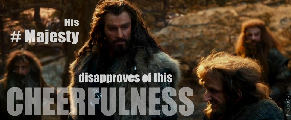 Oakenstill #7: Brooding Thorin does not approve by PeckishOwl