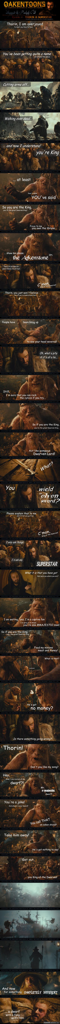 Oakentoon #77: Thorin O. Superstar by PeckishOwl